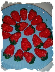 Yummy winter strawberries made with Jello and sweetened condensed milk.