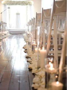 Line the aisle with candles
