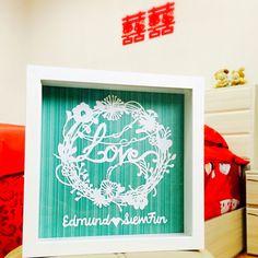 LOVE wedding gift personalized paperart papercutting  Follow us on       Facebook : Cj.paperart    Instagram : cj.paperart
