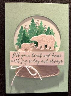 Tamie Ackerson, Stampin' Up Demonstrator, Christmas Snow Globes, Christmas Time, Globe Ornament, Xmas Ornaments, Christmas Catalogs, Stampin Up Christmas, Shaker Cards, Christmas Settings, Winter Cards
