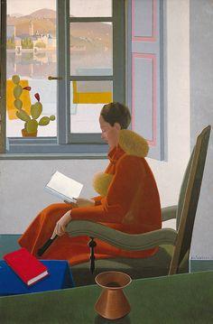 """Antonio Calderara (Italian, 1903-1978) - """"La finestra e il libro"""" (Window and book), 1935"""