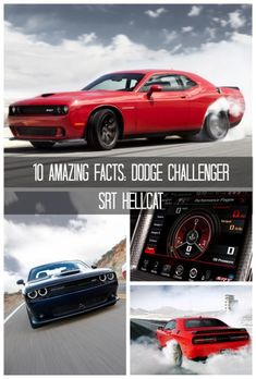 10 Amazing Facts: Dodge Challenger SRT Hellcat. Click for muscle car heaven! #spon #badass