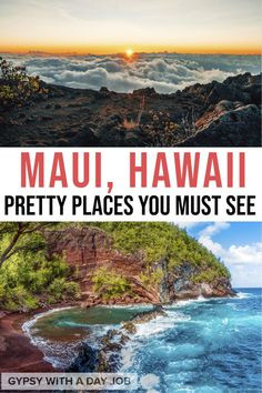 If you want your dream trip to Hawaii to be over the top, Maui is the island for you. Our Maui 5 day itinerary includes beaches of every color, the road to Hana, and lots of adventure. You'll have experiences you can't have anywhere else on earth, like sunrise over Haleakela. We think our plan is the perfect way to spend 5 days in Maui. Don't wait! Start planning your 5 day Maui itinerary now! #hawaii #hawaiitravel #maui #usatravel #pacificislands
