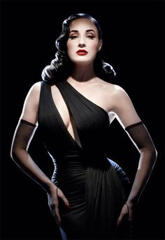 Dita Von Teese... You are a beautiful young lady