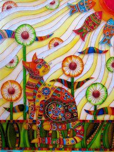 """Sunny cat"" par Iris"