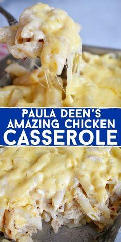 Best Chicken Casserole, Easy Casserole Recipes, Casserole Dishes, Chicken Spaghetti Casserole, Chicken Spaghetti Recipe Paula Deen, Chicken Casserole With Stuffing, Company Casserole Recipe, Quick Casseroles, Lasagna Casserole