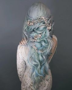 Lunar Tides Moonstone Blue Hair Dye on ice princess ❄️