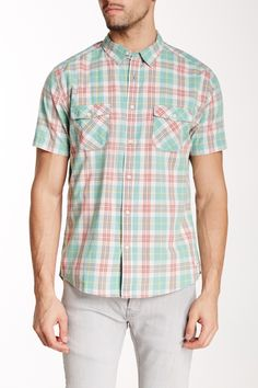 Plaid Short Sleeve Modern Fit Shirt