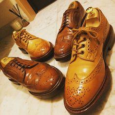 takei0201 #alden &#trickers ウイングチップのツーショット #オールデン#ウイスキーコードバン  も魅力ですが、#トリッカーズ#エイコンアンティーク (カラシ色?)の魅力は何年経っても色褪せません  明日の休憩時間は#コードバン脱皮 したオールデンを磨いてpostする予定です  #靴磨き#靴バカ#薄化粧推進派#革靴#靴#ちゅるるん#ちゅるりすと#ちゅる活#aldenarmy#aldenshoes#whiskeycordovan#shellcordovan#shoeshine 2016/11/30 23:13:07