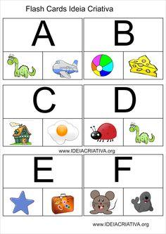 Atividade com Flash Cards Letra do Alfabeto