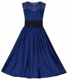 Lindy Bop 'Serena' Elegant Vintage 1950's Chiffon Prom Dress / Ball Gown: Amazon.co.uk: Clothing