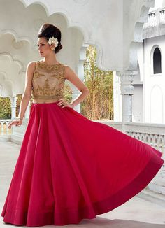 Pink Long Gown, party gown, namaste fashion