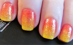Tequila Sunrise!!! i want my nails like this!! :)
