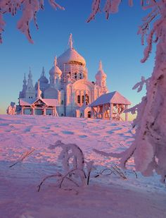 Winter in Russia: Belogorsky Monastery, Perm Province, Middle Urals.