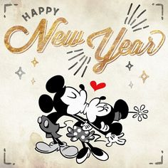 Happy New Year! Mickey & Minnie - Happy New Year 2018 , Disney New Years Eve, Disney Happy New Year, Happy New Year Funny, Happy New Year Message, Happy New Year Images, Happy New Year Quotes, Happy New Year Cards, Happy New Year 2018, New Year Greeting Cards