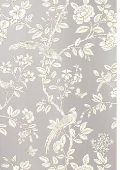 Chinoiserie collection named after a Persian Princess, Soraya ~ Thibaut Wallpaper from the Shang-ri La collection