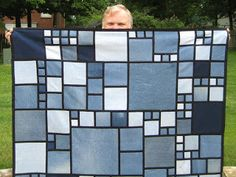 I QUILT FOR FUN: Denim quilt pattern to make use of old jeans.