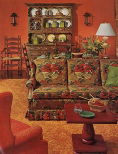 My childhood had horrible decor -   bicentennial chic vintage ethan allen