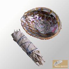 Ensemble: Baton Purificateur Sauge Blanche Moyen et coquille d'ormeau 13-14cm (abalone shell 5-6Inch)- Salvia Apiana - WHITE SAGE ML Smudge 5'' (~13-15cm, ~30-35gr.) Native-spirit.eu http://www.amazon.fr/dp/B00IND77PC/ref=cm_sw_r_pi_dp_HLiavb16YVPG8