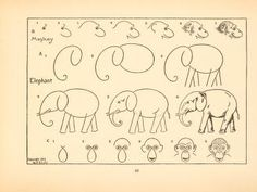 How to Draw an Elephant and Monkey