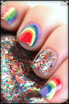 Tes Did It Nails: 31 Day Challenge : Day 9 : Rainbow Nails