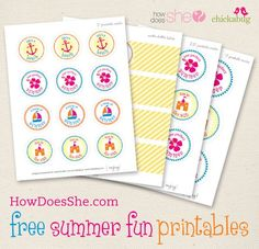 A Page full of beautiful FREE Exclusive Printables! Includes Thank You cards, holiday banners, water bottle labels, flags, teacher appreciation and much more!   --From howdoesshe.com and chickabug.com ...You're welcome! ;)