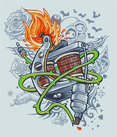 tattoo machine by sassa cartum, via Flickr