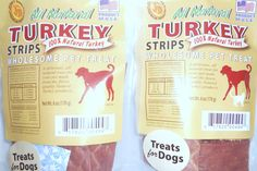 All Natural Turkey Strips 100% Natural Turkey Product of the USA - Protect your dog buy American