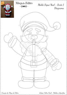 Felt Easy: Santa Claus Fofinho in Felt