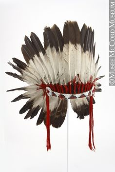 Sioux-Assiniboine or Nadoka headdress via The McCord Museum War bonnets like this one are worn by warriors and chiefs, and are hard-earned badges of heroism and prestige.