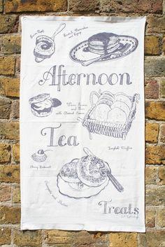 Afternoon Tea Treats Tea Towel