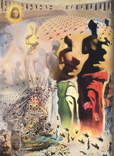Salvador Dali    Sanrılı Boğa Güreşçisi / The Hallucinogenic Toreador    1968-1970. Tuval üzerine yağlıboya. 400 x 300 cm. Salvador Dali Museum, St. Petersburg.
