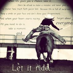 Love. Hopefully start barrel racing soon!!