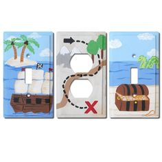 Switch Plate  Custom Hand Painted Wooden Light Switch by Coolisart, $15.00