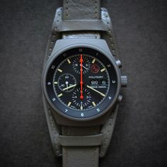 NOS 70's Orfina PD grey PVD 7177 chronograph equipped with a Lemania 5100 calibre.