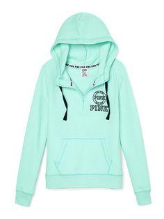 Perfect Half-Zip Hoodie - PINK - Victoria's Secret | new clothes ...