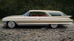 1961 Cadillac Esprit de Ville Sportwagon— Yes you're right. Cadillac didn't make any factory station wagons in the Or Or Cadillac Ats, Cadillac Fleetwood, General Motors, Shooting Break, Vintage Cars, Antique Cars, Station Wagon Cars, Convertible, Us Cars