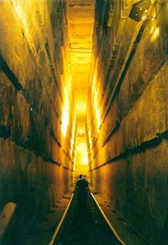 The Grand Gallery of the Great Pyramid of Giza leads up to the King's Chamber.