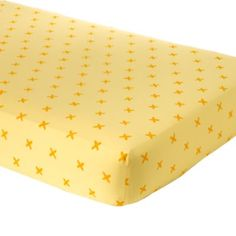 Yellow Crisscross Crib Fitted Sheet