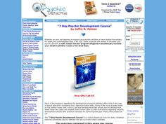 ① The 7 Day Psychic Development Course - http://www.vnulab.be/lab-review/%e2%91%a0-the-7-day-psychic-development-course