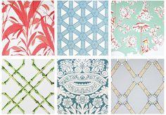 Meg Braff wallpaper and fabric