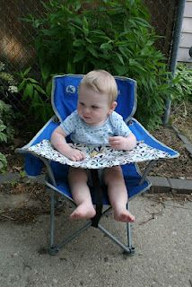 Bliss Defines Me: DiY Camping High Chair just need another chair from the dollarama.. cannot believe they held up so good for so cheap..