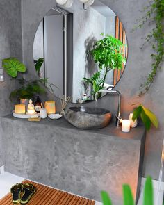 Just wanted to share some BEFORE and AFTER pictures from OUR BATHROOM that I designed myself and renovated together with my dad🍃. The bathroom looked ok before, but I wanted to create a place in our home where I could relax🌿. Dream Home Design, House Design, Interior Styling, Interior Decorating, Dark Bathrooms, Apartment Projects, Before And After Pictures, Awesome Bedrooms, Home Decor Inspiration
