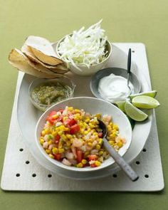 Shrimp-and-Corn Tacos Recipe