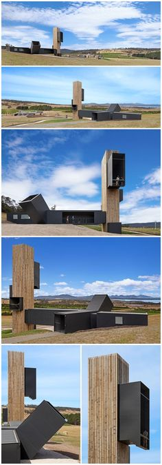 Stunning Lookout Tower Built Of Shipping Containers, Apslawn in Tasmania, Australia | Cumulus Studio.