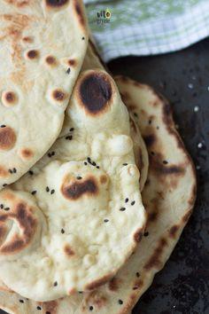 Naan, Vegan Recipes, Vegan Food, Pancakes, Pizza, Menu, Sweets, Bread, Dinner