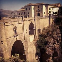 Ronda in Málaga, Andalucía  http://www.earthporm.com/20-mystical-bridges-will-take-another-world/
