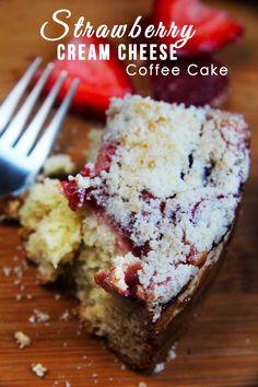 Fresh Strawberry Cream Cheese Coffee Cake