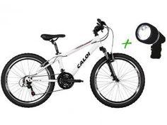 Bicicleta Caloi Wild Mountain Bike Aro 24 - 21 Marchas Quadro Alumínio + Farol Dianteiro