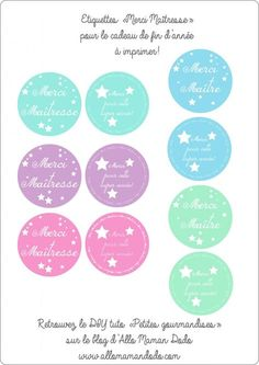 DIY: The gift for the mistress: The glass of delicacies! (+ Labels for printing!) – Allo Maman Dodo - Cats and Dogs House Diy Cadeau Maitresse, Home Crafts, Diy And Crafts, Thank You Labels, Good Manufacturing Practice, Gift Baskets, Teacher Appreciation, Teacher Gifts, Diy Gifts